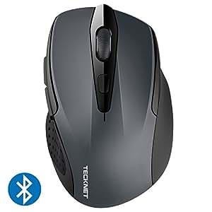 TeckNet Bluetooth ワイヤレス マウス バッテリーインジケータ付き 無線 ブルートゥース マウス 24ヶ月電池寿命 2400/1500/1000 DPI調整可能