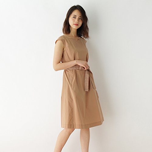 (クチュールブローチ) Couture Brooch ハートカットネックフレンチワンピース 50853202 38(M) ベージュ(052)
