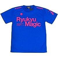 吸汗速乾 琉球マジック DESCENTE (デサント) Ryukyu Magic Tシャツ 沖縄限定 ブルー ライム ブラック