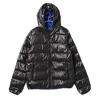 【ブラック×ブルー/Mサイズ 1点】philter コアブリッド配合 ヒートファイバーダウンジャケット
