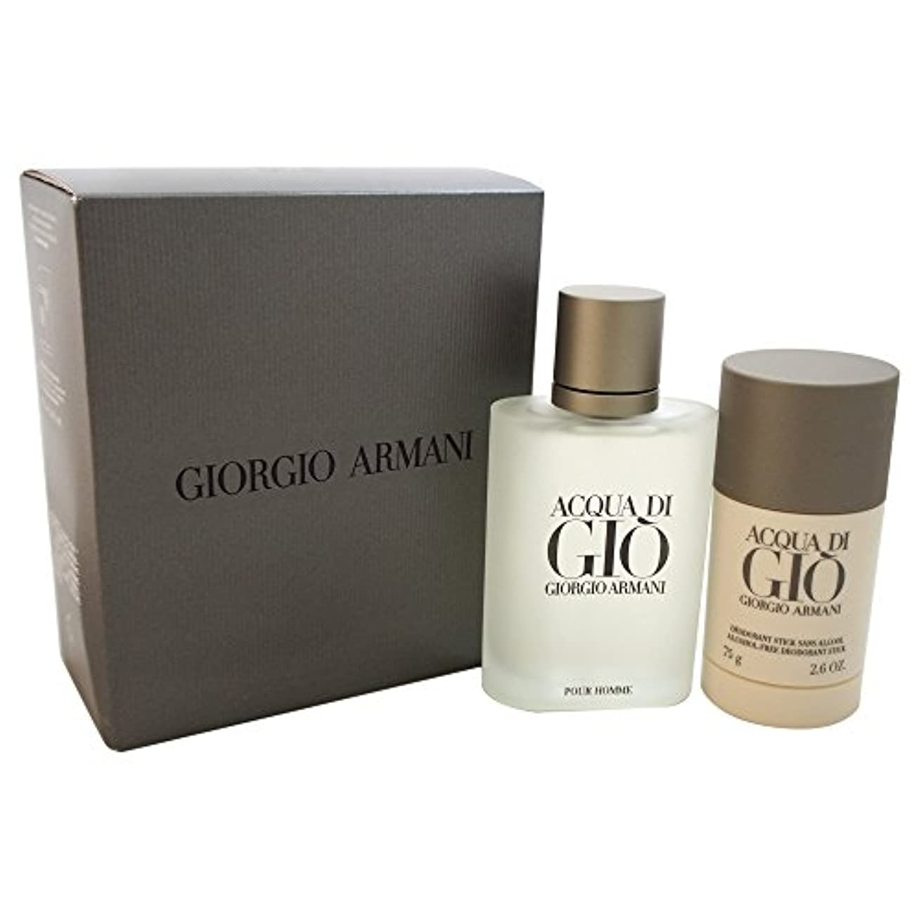 仕方流用するハウスジョルジオアルマーニ Acqua Di Gio Coffret: Eau De Toilette Spray 100ml/3.4oz + Alcohol-Free Deodorant Stick 75ml/2.6oz 2pcs...