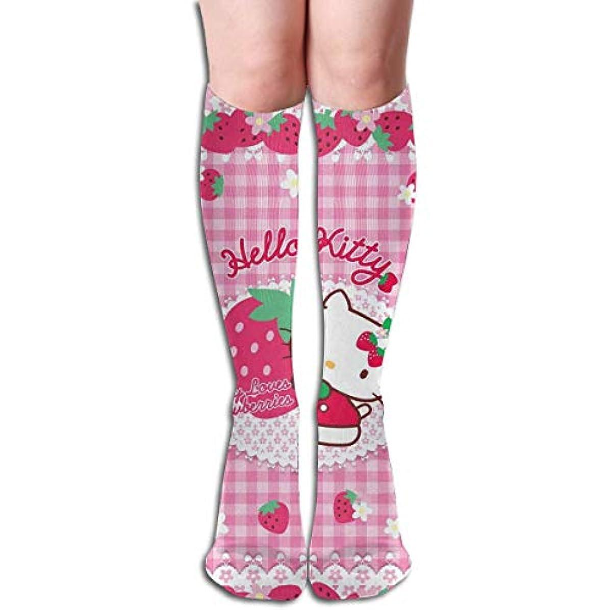 実験的ボーナス対処するqrriyキティ愛イチゴチューブストッキングレディース冬暖かい暖かいハイソックスブーツ靴下