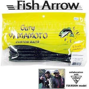 Fish Arrow(フィッシュアロー) ワーム ゲーリーヤマモト フォールシェイカー 6.4インチ ��323 ウォーターメロン/ブラック&ゴールドフレーク