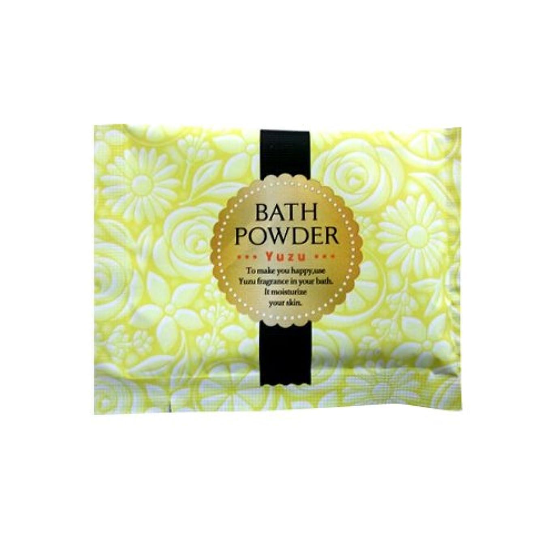 寺院風邪をひく描写入浴剤 LUCKY BATH (ラッキーバス) 25g ユズの香り