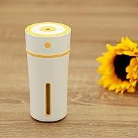 QFFL jiashiqi USB加湿器/夜間照明/漏水防止/乾燥防止燃焼/ミュートミニ加湿器(4色使用可能)(80 * 165mm) (色 : イエロー いえろ゜)