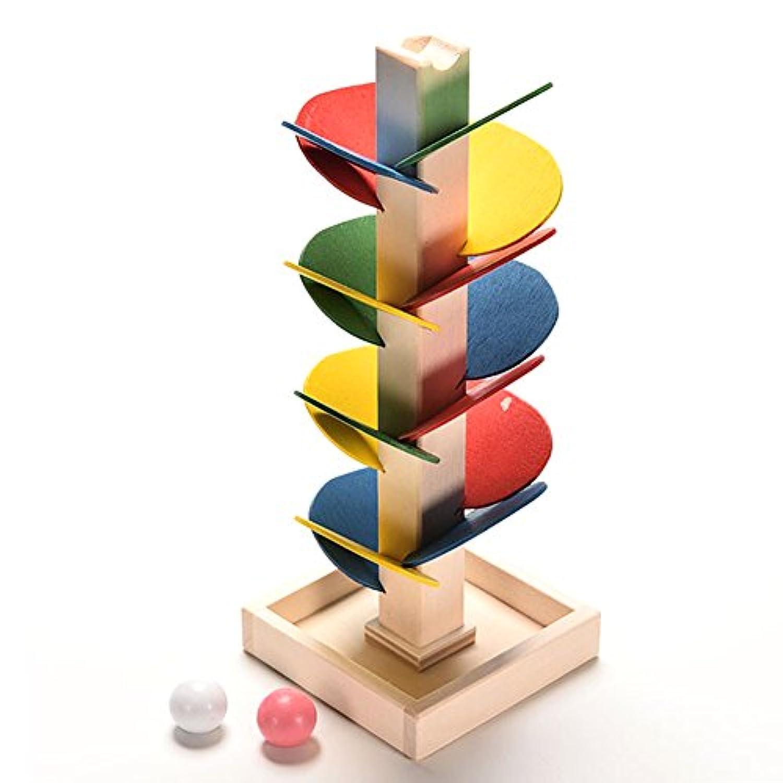 新しいブランド教育玩具ブロック木製ツリー大理石ボール実行トラックゲームベビーキッズ子供Intelligence Wooden Baby Toys
