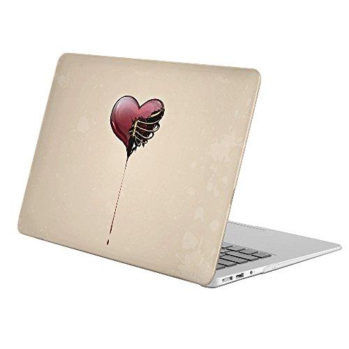koolmac [フルボディハードケース] [ Apple古いMacbook Pro 13インチRetinaディスプレイ/ No CD - ROM (モデル: a1502/ a1425]–Artistic Heart Blood Creepyペイントレッド