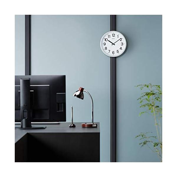 掛け時計 フラットフェイスDN シルバー DA...の紹介画像2