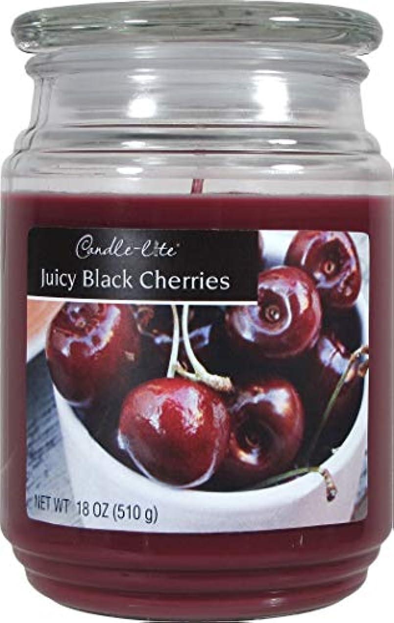五十合計溶接Candle Lite 3297565 Everyday Essentials 18-oz。Juicyブラックチェリーの香りWaxCandle Jar 2 3297565