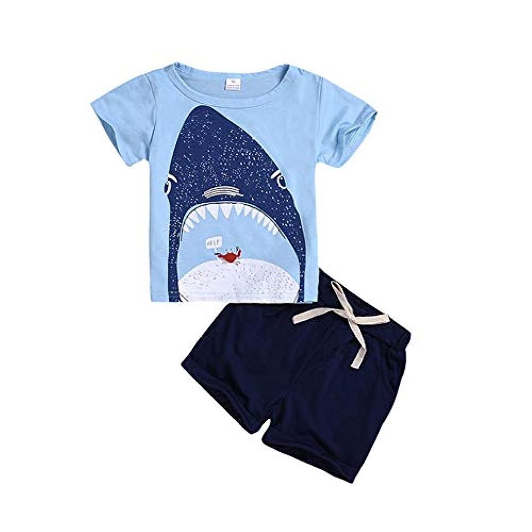 熟すエトナ山宇宙船Rad子供 夏の子供男の子男の子カジュアル半袖漫画プリントTシャツトップス+ショートコスチュームセット