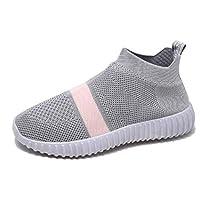 フライング編まれた綿の靴女性の片足スポーツシューズ冬プラスベルベット暖かいセットの足ランニング女性の靴,A,35