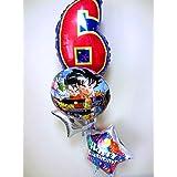 数字のバルーン付 ドラゴンボール誕生日祝バルーン