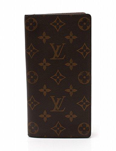 (ルイ・ヴィトン) LOUIS VUITTON 長財布 ポルトフォイユ ブラザ 二つ折り モノグラム 茶 M66540 中古