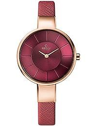 [オバック] OBAKU 腕時計 ウォッチ レッド×ローズゴールド シンプル レディース [並行輸入品]