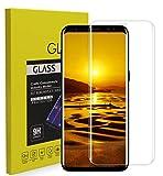 Galaxy S9 Plus ガラスフィルム ERKI 【最新型 ケースに干渉されず】 3Dラウンドエッジ 熱曲げ 旭ガラス 硬度9H 高透過率 透明 貼付簡単 指紋防止 撥油性 高感度 6.2インチ 保護フィルム(Samsung Galaxy S9+/ギャラクシー S8 プラス/au SCV39/docomo SC-03K 対応)(クリア)