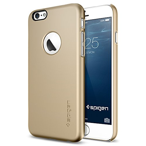 iPhone 6 ケース, Spigen® [ジャストフィット] Apple iphone 4.7 (2014) シン・フィットA ** アップルロゴのアクセント ** The New iPhone アイフォン6 (国内正規品) (シャンパン・ゴールド 【SGP10943】)