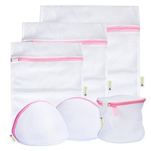 ZOTO 洗濯ネット 6個補強芯メッシュ洗濯袋セット,ドーム型ブラジャーネット 細目角型,円筒ランドリーネット,洗濯機用、旅行用、収納用くずよけネット