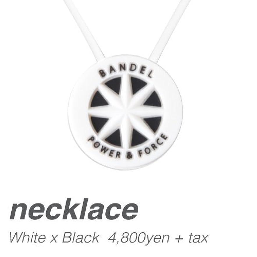 のど単位調和[バンデル?BANDEL]スタンダードネックレス?BANDEL standard necklace(WhitexBlack?ホワイト×ブラック)45cm