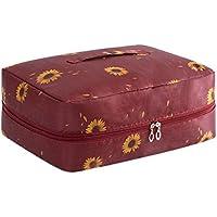 旅行用ストレージバッグ赤いひまわりのパターンの荷物旅行の下着の服のストレージ大容量Foldableポータブル防水モイスチャーションワードローブ仕上げ移動ストレージバッグ43 * 33 * 17センチメートル