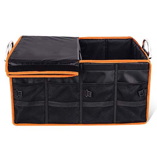 [YACONE] 車用収納ボックス折り畳み式 60Lトランクボックス 超大容量 車載ボックス トランク収納ケース取っ手付省スペース設計 車用トランクボックス 車用収納ポケット 防水 カー用品