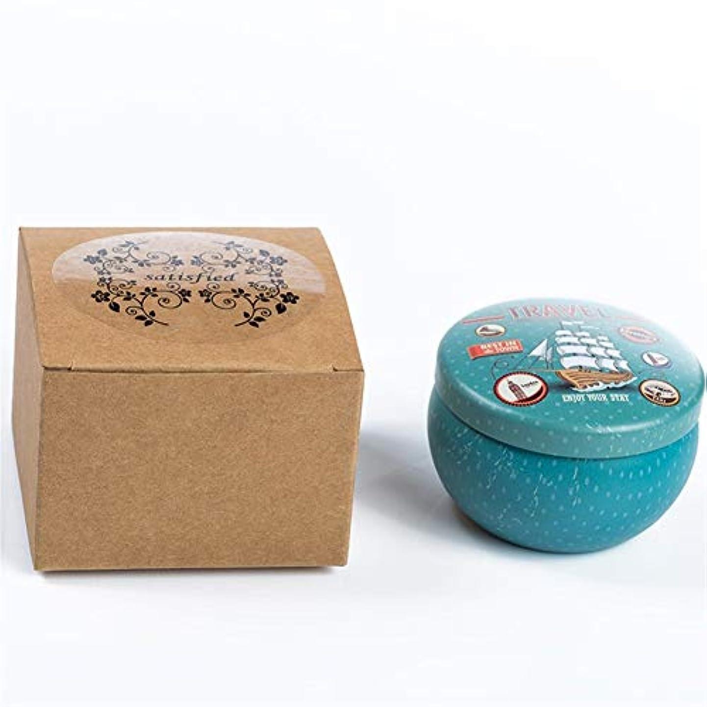 ウールジャニスブルゴーニュGuomao 漫画のブリキの箱の香料入りの蝋燭の家のなだめるような睡眠、新しく、快適な臭いがする蝋燭 (色 : Lavender)