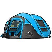 SKYLINKキャンプ用自動屋外ポップアップテント防水用クイックオープニングテントキャリングバッグ付き4人用キャノピー
