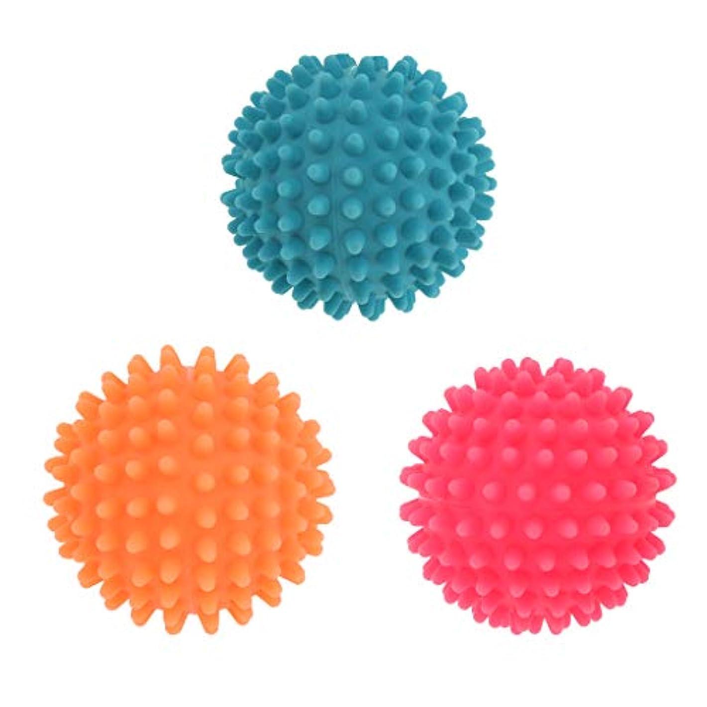 困難感情測るFLAMEER 3個 マッサージボール ヨガボール 触覚ボール ツボ押しグッズ 直径7cm