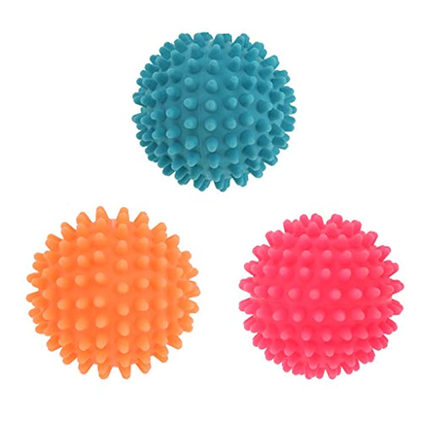 おなじみのドループミケランジェロFLAMEER 3個 マッサージボール ヨガボール 触覚ボール ツボ押しグッズ 直径7cm