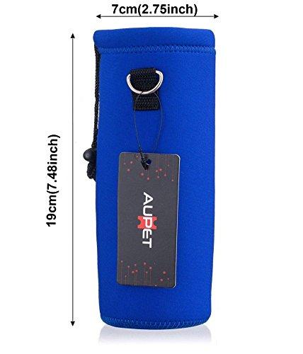 AUPET 水筒カバー 携帯式ボトルカバー 水筒ケース 調節可能なショルダーストラップある 2.75インチ以下直径のボトルに合う (750ML, AU-PBC-14)
