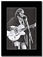 - Neil Young - Wembley 1974 - つや消しマウントマガジンプロモーションアートワーク、ブラックマウント Matted Mounted Magazine Promotional Artwork on a Black Mount