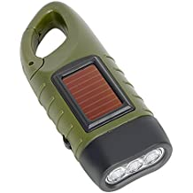 iTimo Portable Solar Power Torch Lantern for Outdoor Camping Mountaineering Tent Light Hand Crank Dynamo LED Flashlight