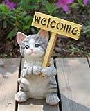 ラブリーキャット かわいい ネコちゃんが お出迎え ウェルカムボード ガーデングッズ