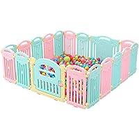 ベビーサークル 大型赤ちゃんの遊び場18パネル遊び場のポータブル屋内の子供のゲームのフェンス子供の安全活動センター100のボール