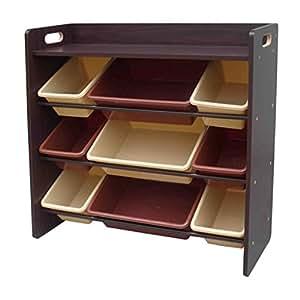 おもちゃ箱 おもちゃ収納 天板付きトイハウスラック (ブラウン)