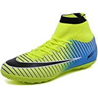 Naughty KK New Soccer Boots for Unisex Men/Women Professional Soccer Shoes High-Top with Cleats Boys/Girls