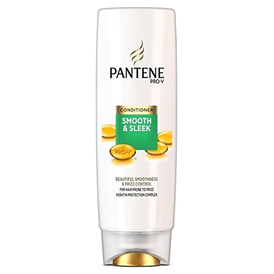 できる支給ダブルパンテーンコンディショナースムーズ&縮れ250ミリリットルを受けやすい髪になめらかな x4 - Pantene Conditioner Smooth & Sleek For Hair Prone to Frizz 250ml...