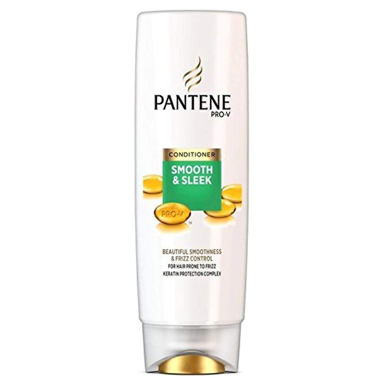 ラケット大佐切り離すパンテーンコンディショナースムーズ&縮れ250ミリリットルを受けやすい髪になめらかな x4 - Pantene Conditioner Smooth & Sleek For Hair Prone to Frizz 250ml...