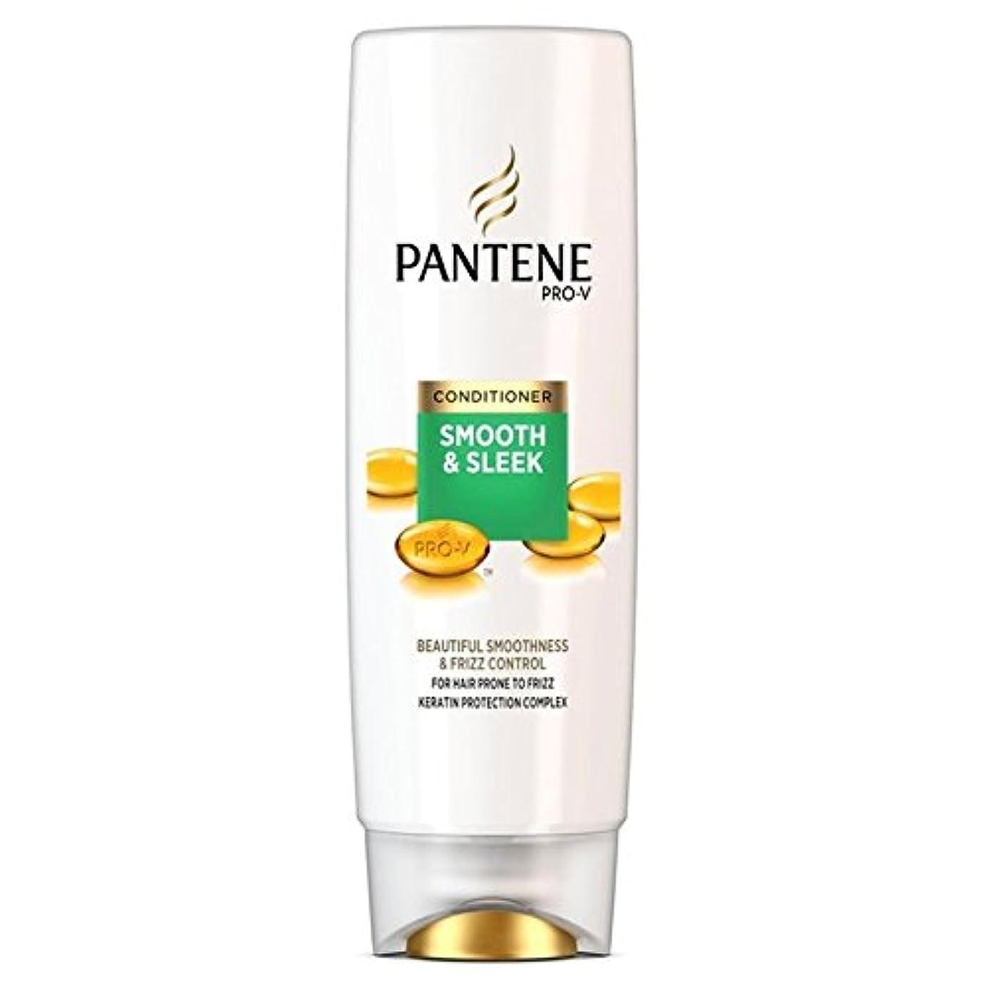 温帯廃止する加速するパンテーンコンディショナースムーズ&縮れ250ミリリットルを受けやすい髪になめらかな x4 - Pantene Conditioner Smooth & Sleek For Hair Prone to Frizz 250ml...
