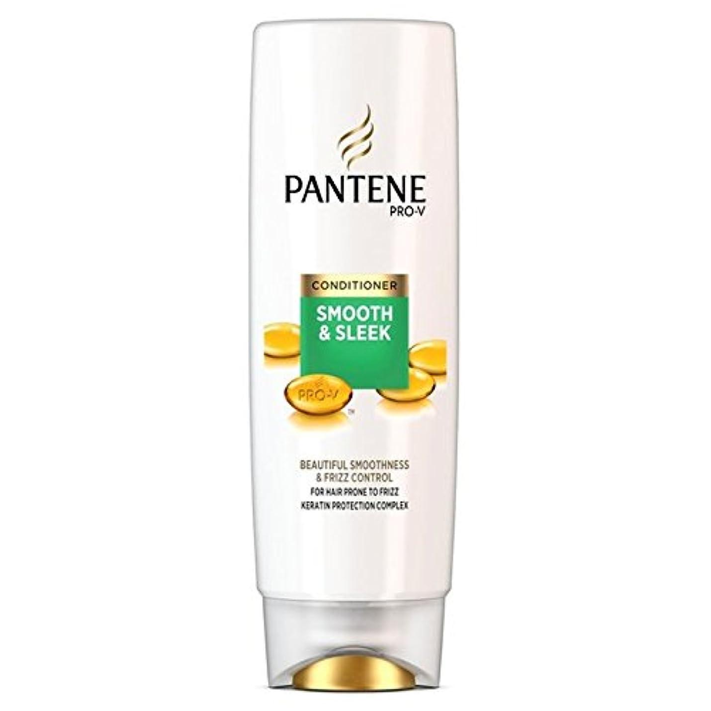 必要条件しかしながら時計回りPantene Conditioner Smooth & Sleek For Hair Prone to Frizz 250ml (Pack of 6) - パンテーンコンディショナースムーズ&縮れ250ミリリットルを受...