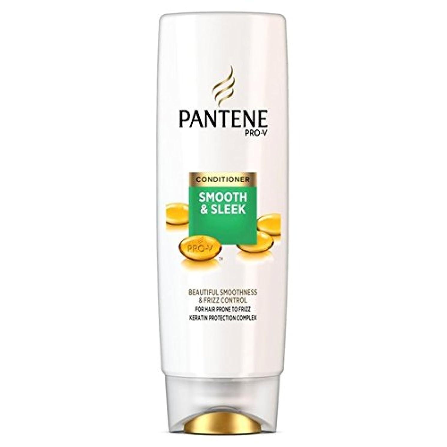 公園スズメバチファウルパンテーンコンディショナースムーズ&縮れ250ミリリットルを受けやすい髪になめらかな x2 - Pantene Conditioner Smooth & Sleek For Hair Prone to Frizz 250ml (Pack of 2) [並行輸入品]