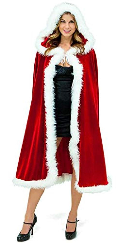 博覧会言語学ディスクY-BOA クリスマス マント ケープ クローク ポンチョ 帽子付き サンタクロース 衣装 仮装 コスプレ コスチューム レディース 大人 子供 パーティー イベント 演出服 120cm