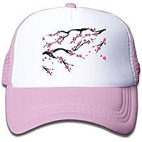 ピンクの桜 素敵 かわいい おもしろい ファッション 派手 メッシュキャップ 子ども ハット 耐久性 帽子 通学 スポーツ