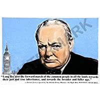 Churchill Quote From Speech Wall Art Print 教会見積もりから壁