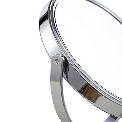 (セーディコ)Cerdeco シンプルデザイン 真実の両面鏡DX 5倍拡大鏡 360度回転 卓上鏡 スタンドミラー メイク 化粧道具 鏡面148mmΦ J622