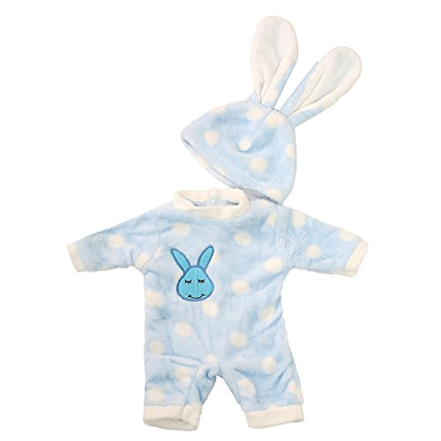 MonkeyJack Bunny Jumpsuit Set Outfit for 18'' American Journey Girl My Life Doll Blue