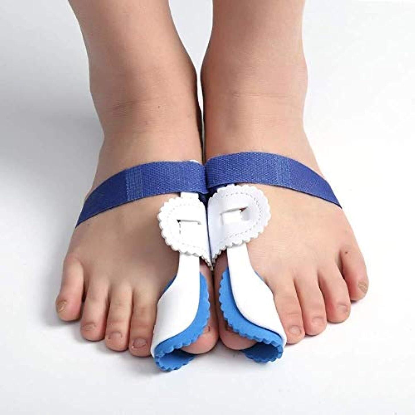 ドアミラーあえぎ証書足の親指の装具の足プロテクター、外反母趾装具ブレース外反母趾のための調節可能なベルクロの足の毛のストレート