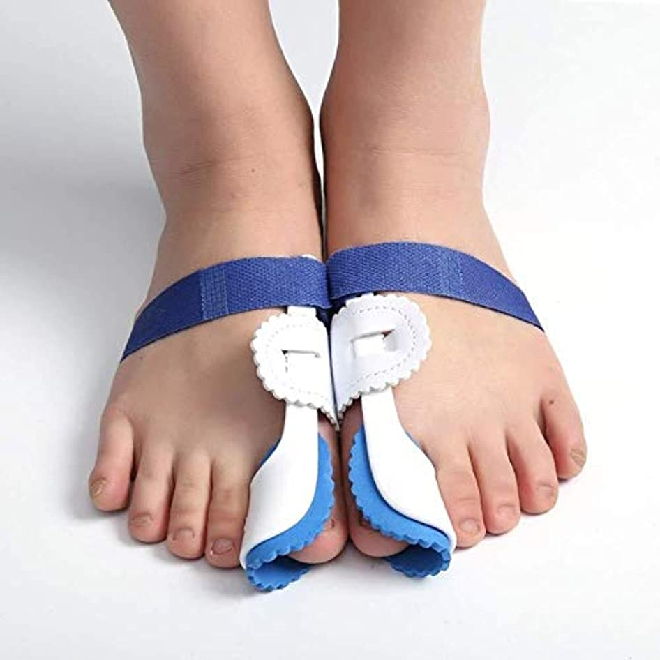 ハンドブックウェイター変数足の親指の装具の足プロテクター、外反母趾装具ブレース外反母趾のための調節可能なベルクロの足の毛のストレート
