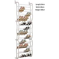 ドアの上に12層吊り靴のラックストレージのオーガナイザーホルダーは36組(白)