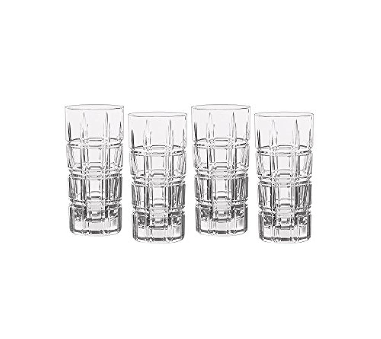 ながらセンチメンタル報復するMarquis by Waterford Crosby Plaidのセット4 Highball Glasses One Size 40007132