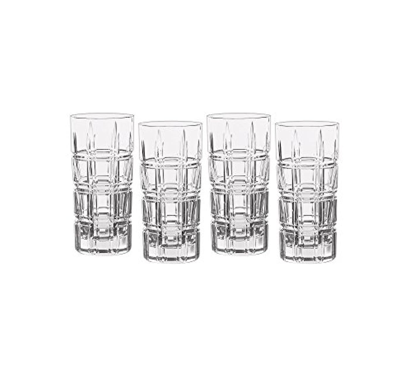 噂期待抵抗するMarquis by Waterford Crosby Plaidのセット4 Highball Glasses One Size 40007132